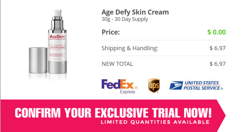 AgeDefy Cream Free Trial